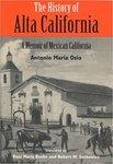 The History of Alta California: Memoirs of Mexican California, by Antonio María Osio
