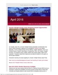 GEO Newsletter, April 2016 by Global Engagement Office