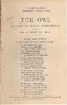 The Owl, vol. 2, no. 4